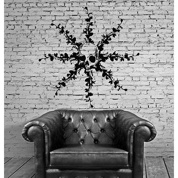 Wall Decal Horror Death Skull Pattern Room Mural Vinyl Stickers Unique Gift (ig2794)