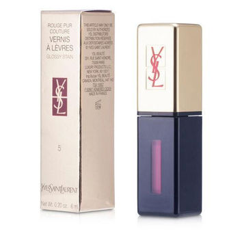 Yves Saint Laurent Rouge Pur Couture Vernis A Levres Glossy Stain - # 5 Rouge Vintage --6ml-0.2oz By Yves Saint Laurent