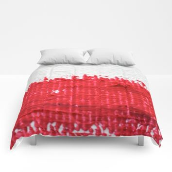 Red on Canvas Comforters by UMe Images