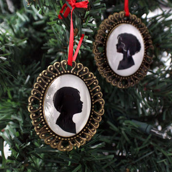Custom Silhouette Christmas Ornament