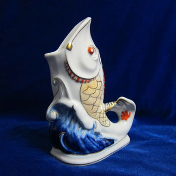 VINTAGE Porcelain Figurine Soviet fish Korosten 1970 russian antique 2
