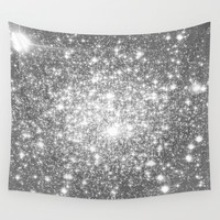 Silver Gray Wall Tapestry by WhimsyRomance&Fun