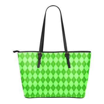 St Patricks Day Small Leather Tote Bag