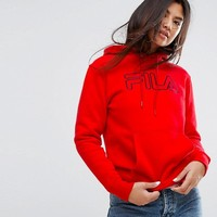 Fila Oversized Boyfriend Hoodie With Front Logo at asos.com