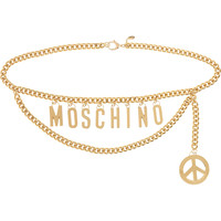 Moschino - Embellished gold-tone belt