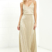 Friend of the Glam Gold Maxi Dress