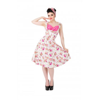Ophelia Antique Rose Dress | Vintage Inspired Fashion | Lindy Bop