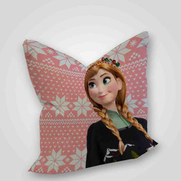 Elsa Frozen Christmas, pillow case, pillow cover, cute and awesome pillow covers