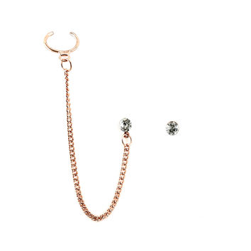 Chain and Stud Ear Cuff