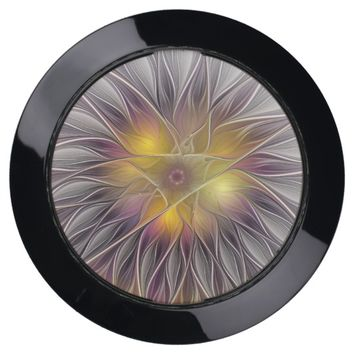 Luminous Colorful Flower, Abstract Modern Fractal USB Charging Station