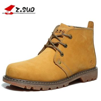 Z. Suo men's boots, brand new solid fashion boots man autumn and winter boots tooling
