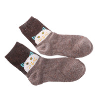 1Pair New Fashion Women Lady Wool Cashmere Blend Socks Warm Cute Christmas Deer Cat Owl Style