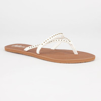 Volcom All Day Long Womens Sandals White  In Sizes