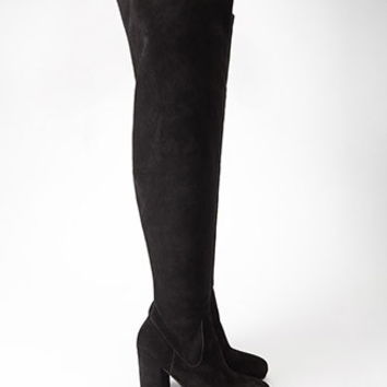 Over-the-Knee Genuine Suede Boots