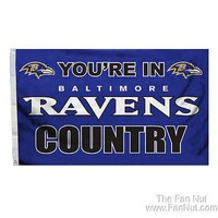 Baltimore Ravens COUNTRY 3x5 Outdoor Flag Banner NFL Football