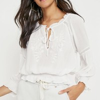 UO Robyn White Boho Blouse | Urban Outfitters