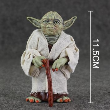 Star Wars Force Episode 1 2 3 4 5 12cm  Jedi Knight Master Yoda Action Figure PVC Collection Model Dolls Toys For Christmas Gift AT_72_6