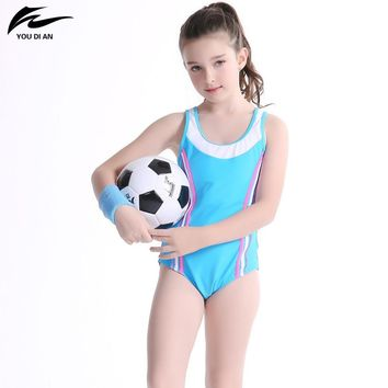 Swimwear Girls Children One Piece Sport Bathing Suit Halter Cross Swimsuit Kids Summer New Arrival Hot Sale Swimming Suit