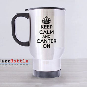 Travel Mug Custom Stainless Steel With Design Canter On Printed Two Side