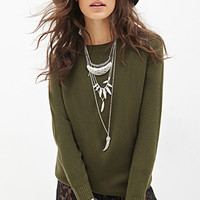 FOREVER 21 Classic Waffle Knit Sweater