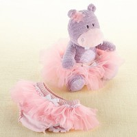 Lady Lulu and Baby's Tutu - Plush Hippo and Bloomer for Baby