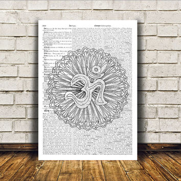 Mandala poster New Age print Wall decor Sacred Geometry art RTA204