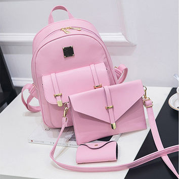 3Pcs/Set Backpacks 2017 School Bags For Back to School