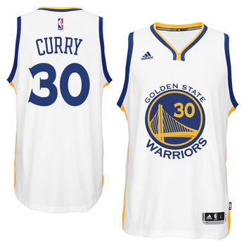 Youth Boy's Golden State Warriors Stephen Curry adidas White Replica Jersey