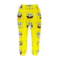 New Fashion Mens/Womens Joggers Pants Graphic 3D Print Funny Spongebob Emoji Casual sweatpants Trousers