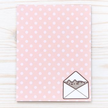 Polka Dot Pusheen notepad