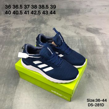 Adidas Original LITE RACER NEO Fashion Breathe Men Women Sports Running Shoes Blue/White 2 Color
