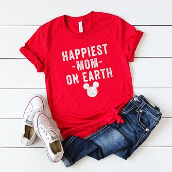 Happiest Mom on Earth | Short Sleeve Graphic Tee