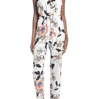 Leith Strappy Floral Print Jumpsuit | Nordstrom