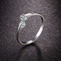 Summer Double Crystal Ring for Women