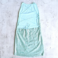 motel rocks - backless fishscale sequin slip dress - pepermint