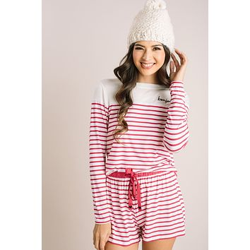 Bridgette Striped Bonjour Pajama Set