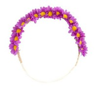 Daisy Flower Crown Head Wrap by Charlotte Russe - Purple Combo