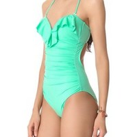 Zimmermann Lacquer Frill One Piece Swimsuit | SHOPBOP