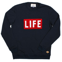 Altru Apparel LIFE Logo Sweatshirt - Navy (Size XL Only)