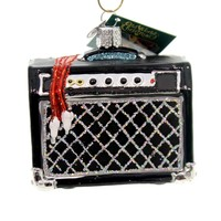 Old World Christmas GUITAR AMP Glass Ornament Music Band 38047