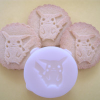 PIKACHU inspired Logo COOKIE STAMP recipe and instructions - make your own Pokemon inspired cookies