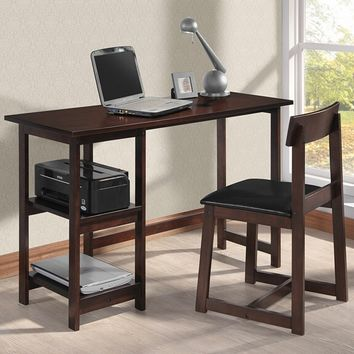 Acme 92046 2 pc Vance espresso finish wood desk and chair set