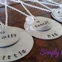 Sorority Sister Necklace-Little-Big-Grand Big-Great Grand Big
