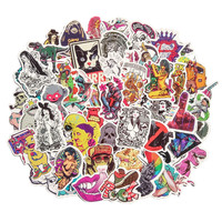 50 pcs/pack Classic Fashion Style Graffiti Stickers For Moto car & suitcase cool laptop stickers Skateboard sticker