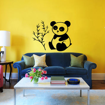 Panda Wall Decal Animal Teddy Bear Bruin Decals Wall Vinyl Sticker Interior Home Decor Art Wall Bedroom Childrens Kids Nursery Decor SV5978
