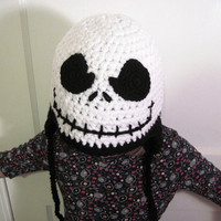 Jack Skellington Hat Fandom Pumpkin King with Evil Smile and Earflaps