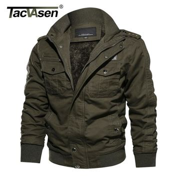 Trendy TACVASEN Thermal Military Jacket Men Winter Casual Jacket Coat Thick Army Pilot Jackets Air Force Cargo Jaqueta Fleece Lining AT_94_13