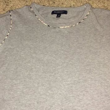Sale!! Vintage BURBERRY London casual long sleeve T shirt Women's BURBERRYS gray tee s