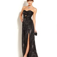 Hailey Logan Juniors' Glittered Cutout Gown