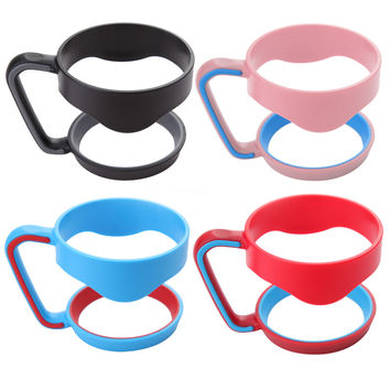 Portable Hand Holder Plastic Cups Handle for 30 Oz YETI Rambler Tumbler Handle Fit For 30ounce  Cup Mugs Black Blue Pink Red
